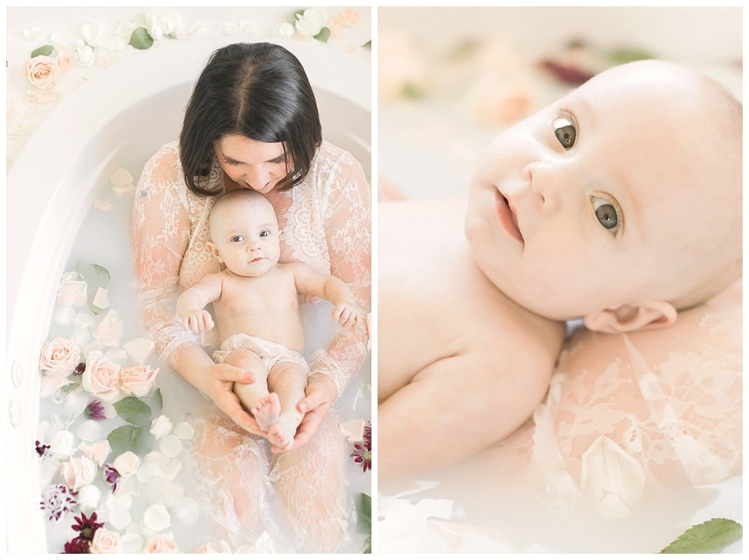 Portland oregon vintage mommy and me milk bath photo shoot ...