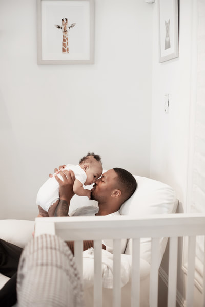 damian lillard and his son in baby nursery